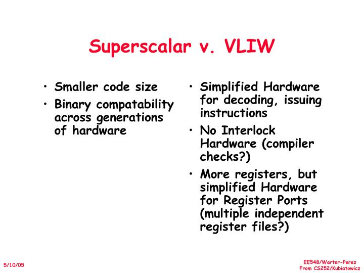 Smaller code size