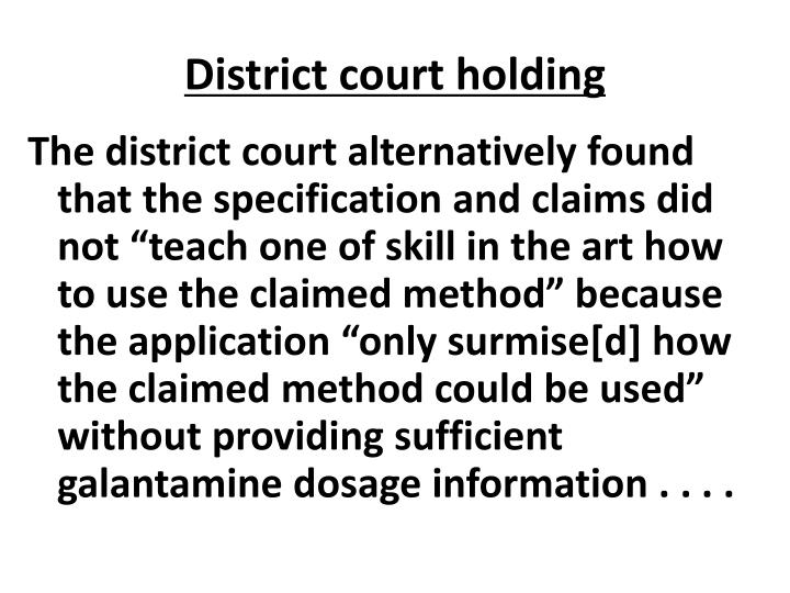 District court holding