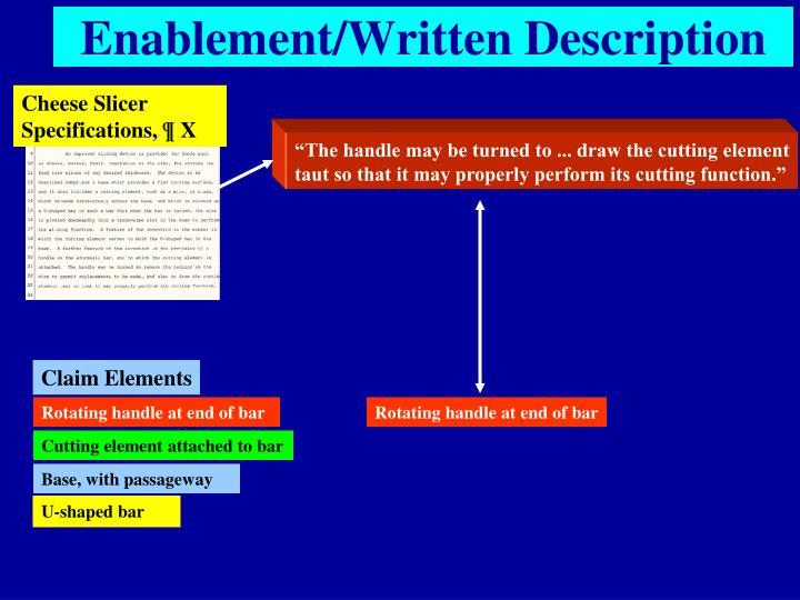 Enablement/Written Description