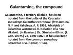 galantamine the compound