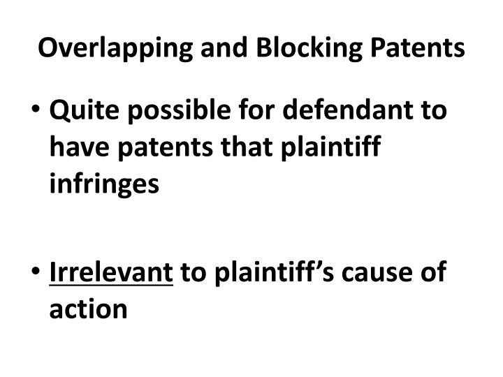 Overlapping and Blocking Patents
