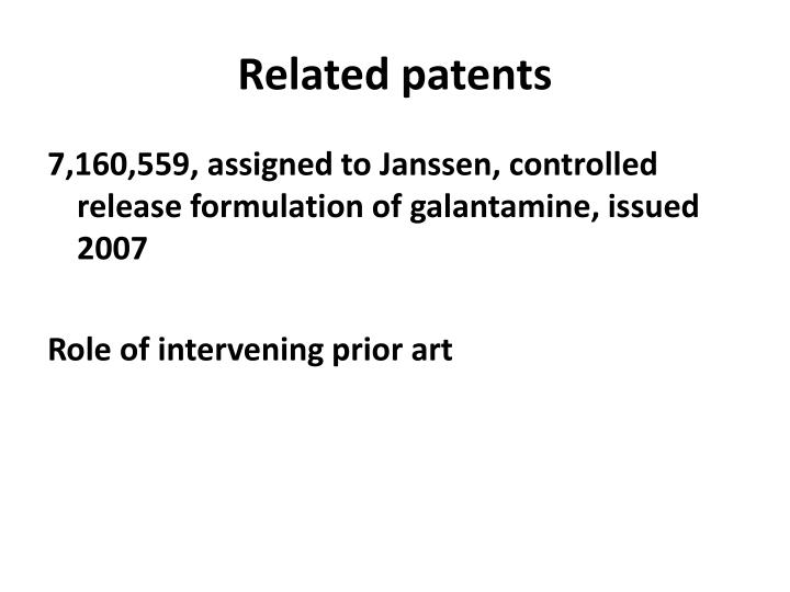 Related patents