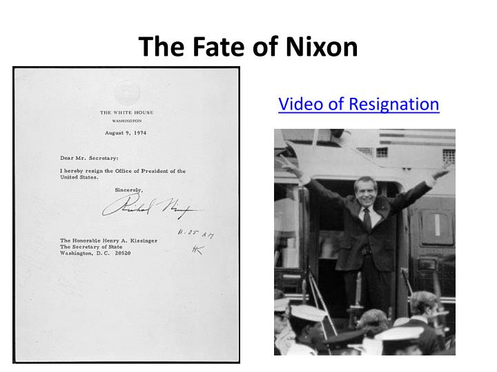The Fate of Nixon