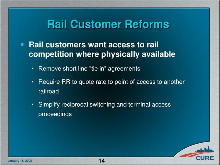 Rail Customer Reforms