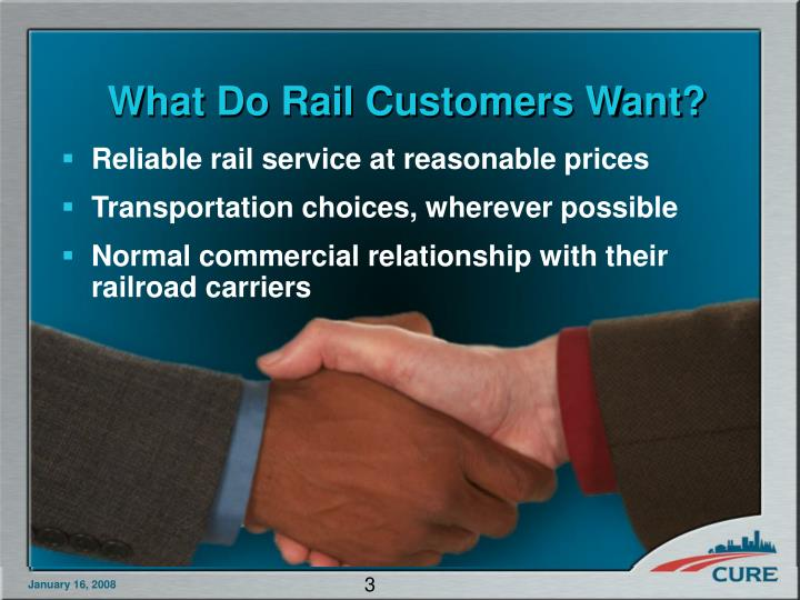 What Do Rail Customers Want?