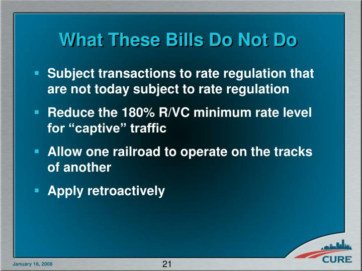 What These Bills Do Not Do