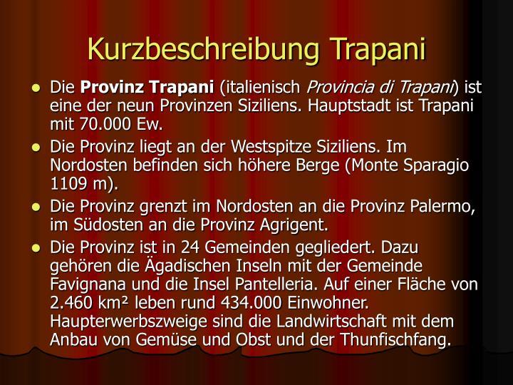 Kurzbeschreibung Trapani