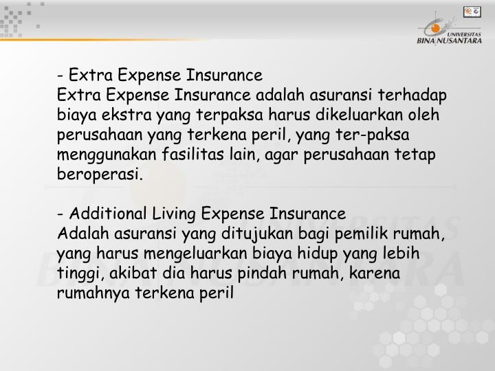 - Extra Expense Insurance