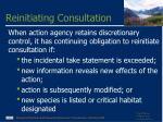 reinitiating consultation