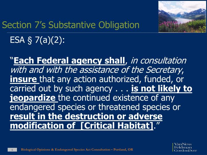 Section 7's Substantive Obligation
