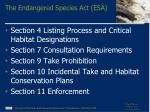 the endangered species act esa
