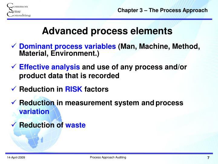 Advanced process elements