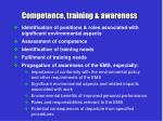 competence training awareness