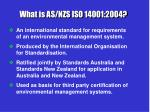 what is as nzs iso 14001 2004