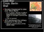 cold war crisis berlin wall