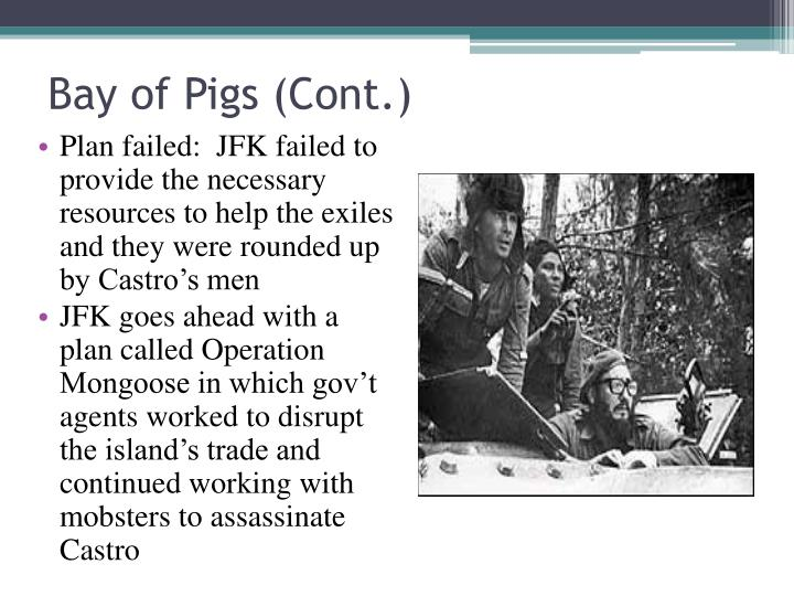 Bay of Pigs (Cont.)