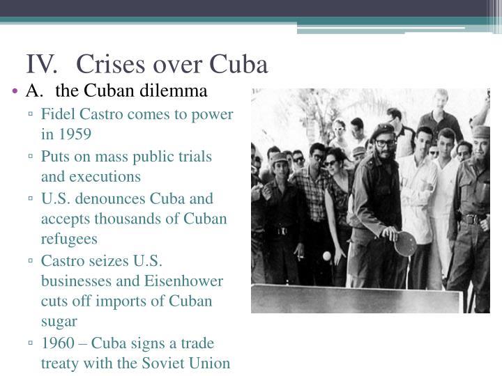 IV.Crises over Cuba