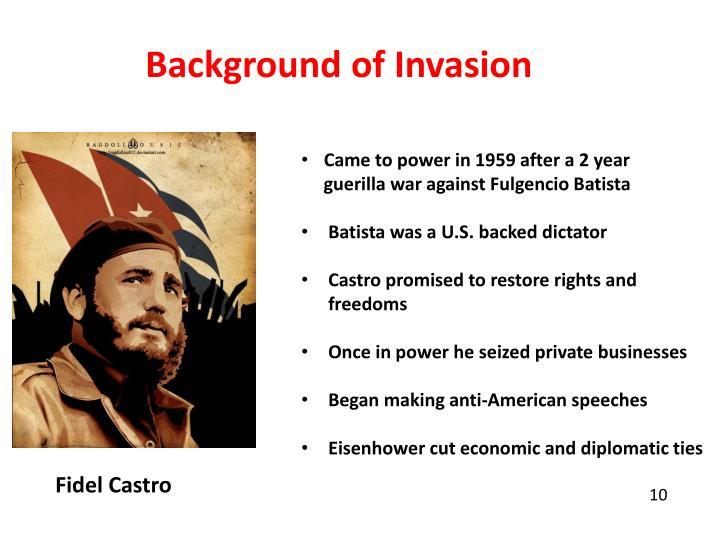 Background of Invasion