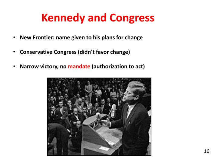 Kennedy and Congress