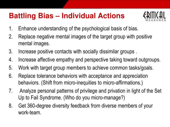 Battling Bias – Individual Actions