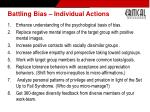 battling bias individual actions