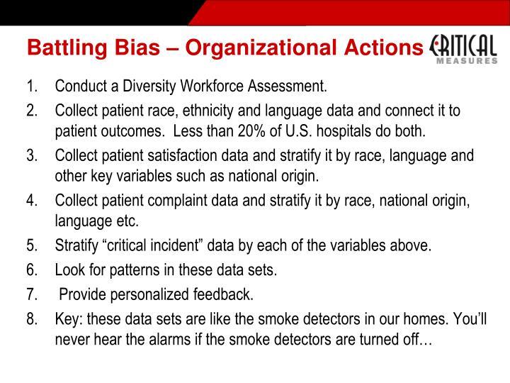 Battling Bias – Organizational Actions