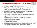 battling bias organizational actions