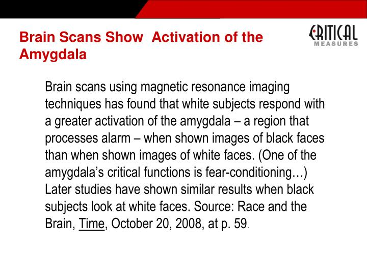 Brain Scans Show  Activation of the Amygdala