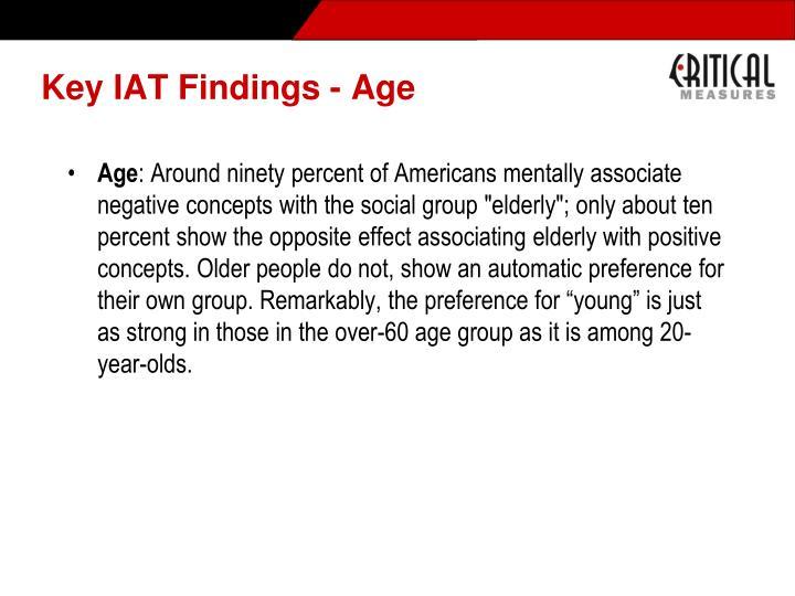 Key IAT Findings - Age
