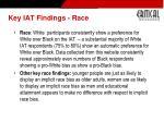 key iat findings race