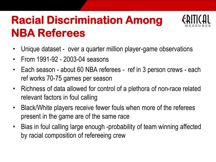 Racial Discrimination Among