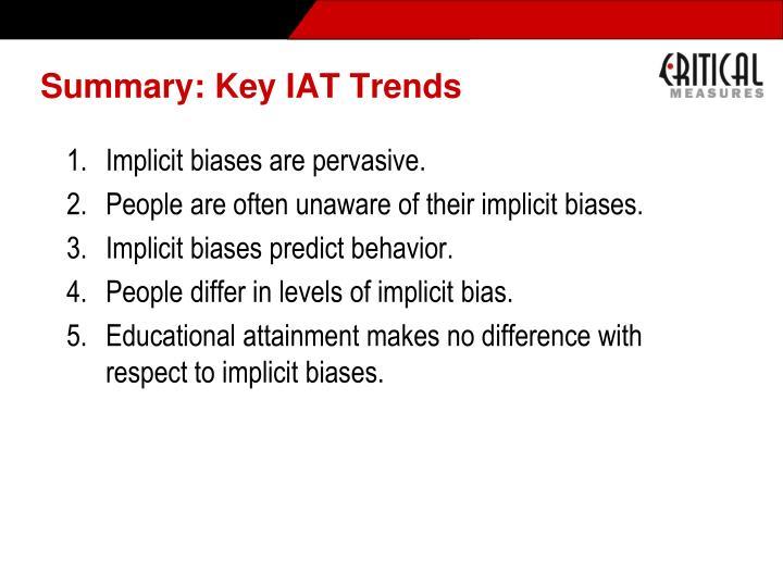 Summary: Key IAT Trends