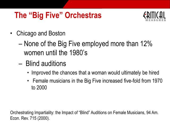 "The ""Big Five"" Orchestras"
