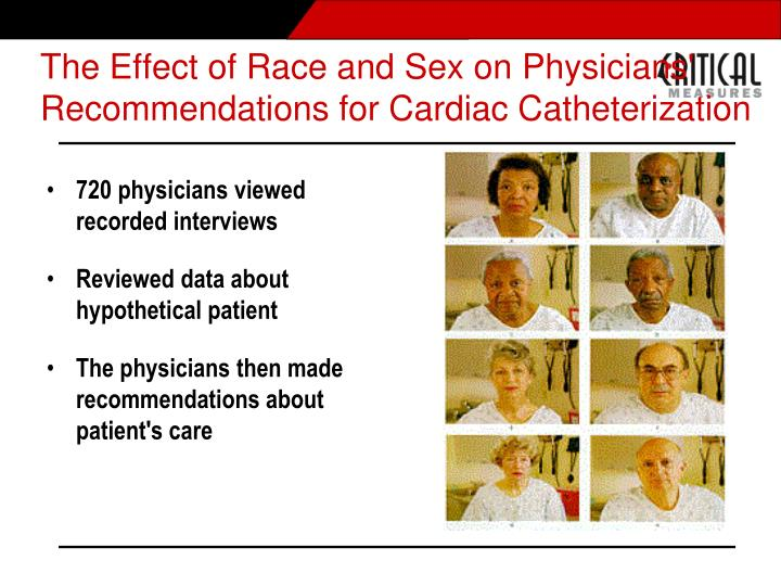 The Effect of Race and Sex on Physicians'