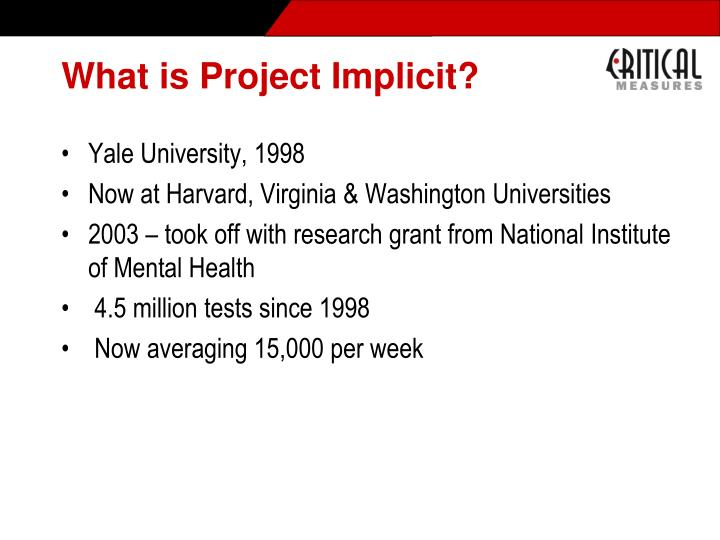 What is Project Implicit?