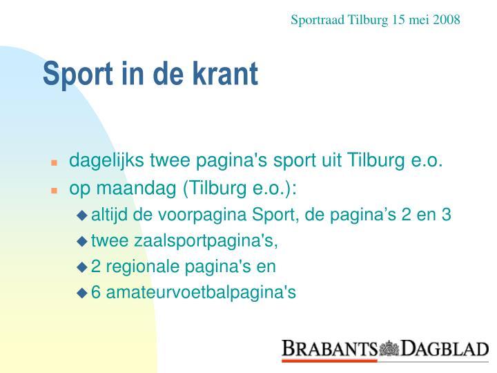 Sportraad Tilburg 15 mei 2008