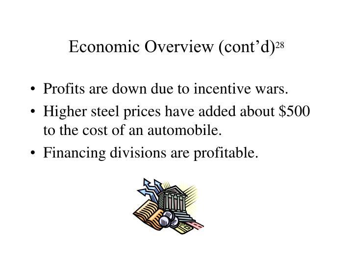 Economic Overview (cont'd)