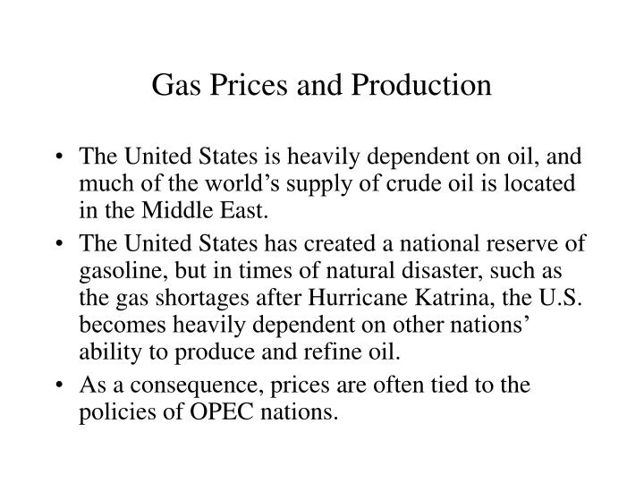 Gas Prices and Production