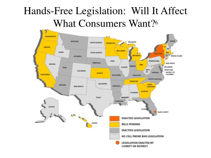 Hands-Free Legislation:  Will It Affect What Consumers Want?