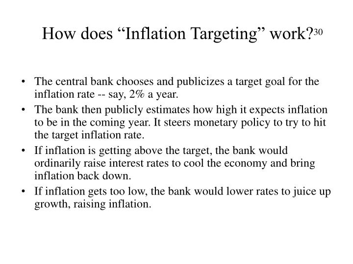 """How does """"Inflation Targeting"""" work?"""