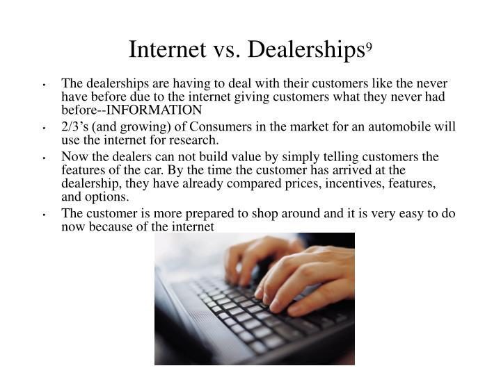 Internet vs. Dealerships