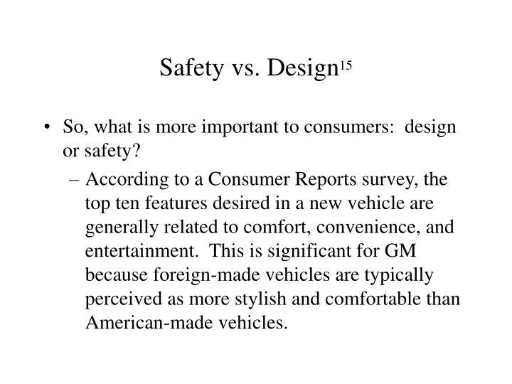 Safety vs. Design