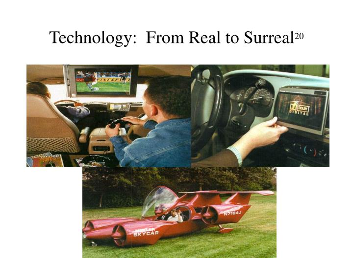 Technology:  From Real to Surreal