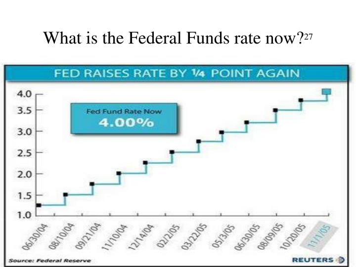 What is the Federal Funds rate now?