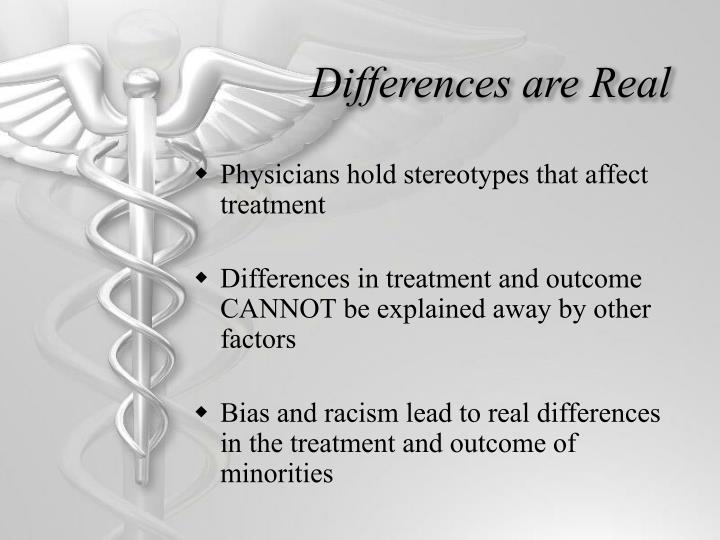 Differences are Real