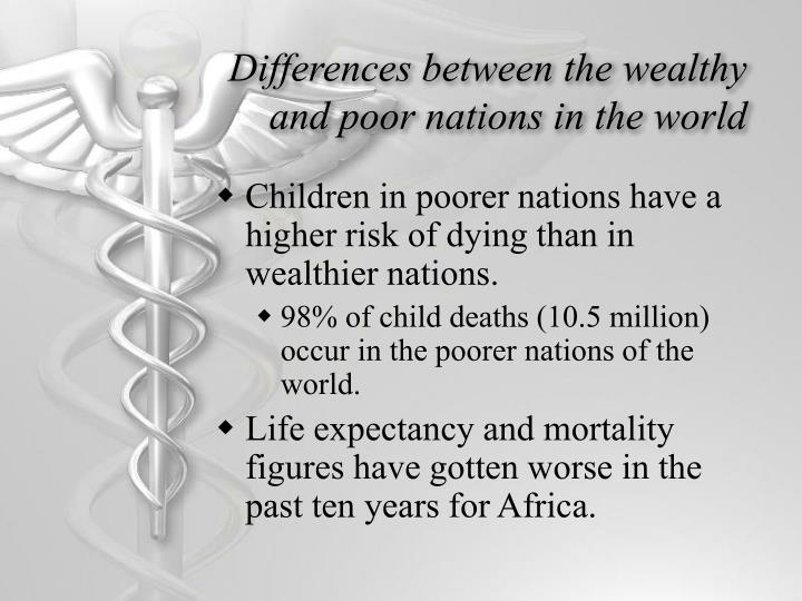Differences between the wealthy and poor nations in the world