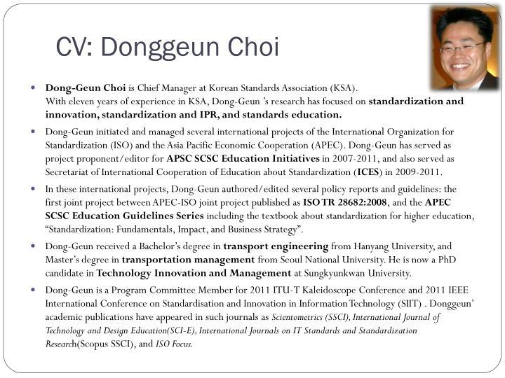 CV: Donggeun Choi