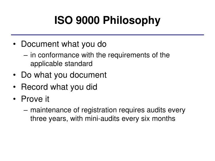 ISO 9000 Philosophy