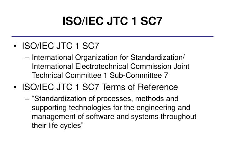 ISO/IEC JTC 1 SC7