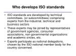 who develops iso standards